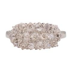 .60 Carat Total Weight Edwardian Diamond Platinum Engagement Ring