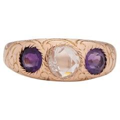 .83 Carat Edwardian Diamond 14 Karat Yellow Gold Engagement Ring