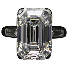 Exceptional Type 2A GIA Certified 16 Carat Emerald Cut Diamond Ring