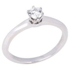 Tiffany & Co Brilliant Cut 0.22ct Diamond Solitaire Ring