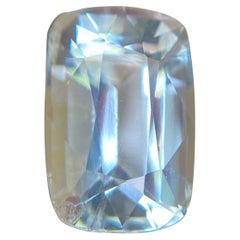 Fine Blue Aquamarine 6.06ct Cushion Cut Rare Beryl Gemstone