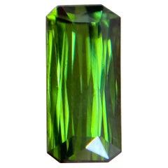 Vivid Green Tourmaline 1.51ct Fancy Scissor Emerald Octagon Cut