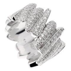 Fred of Paris Pave Diamond White Gold Ring
