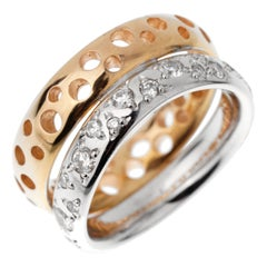 Pomellato Diamond Wave Bubble Rose Gold Band Ring