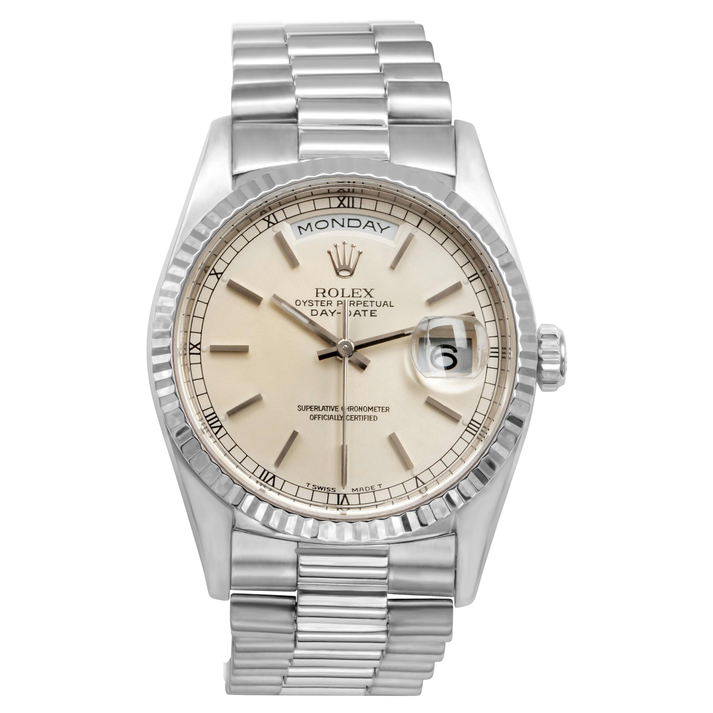 Rolex Day-Date White Gold Wristwatch Ref. 18239