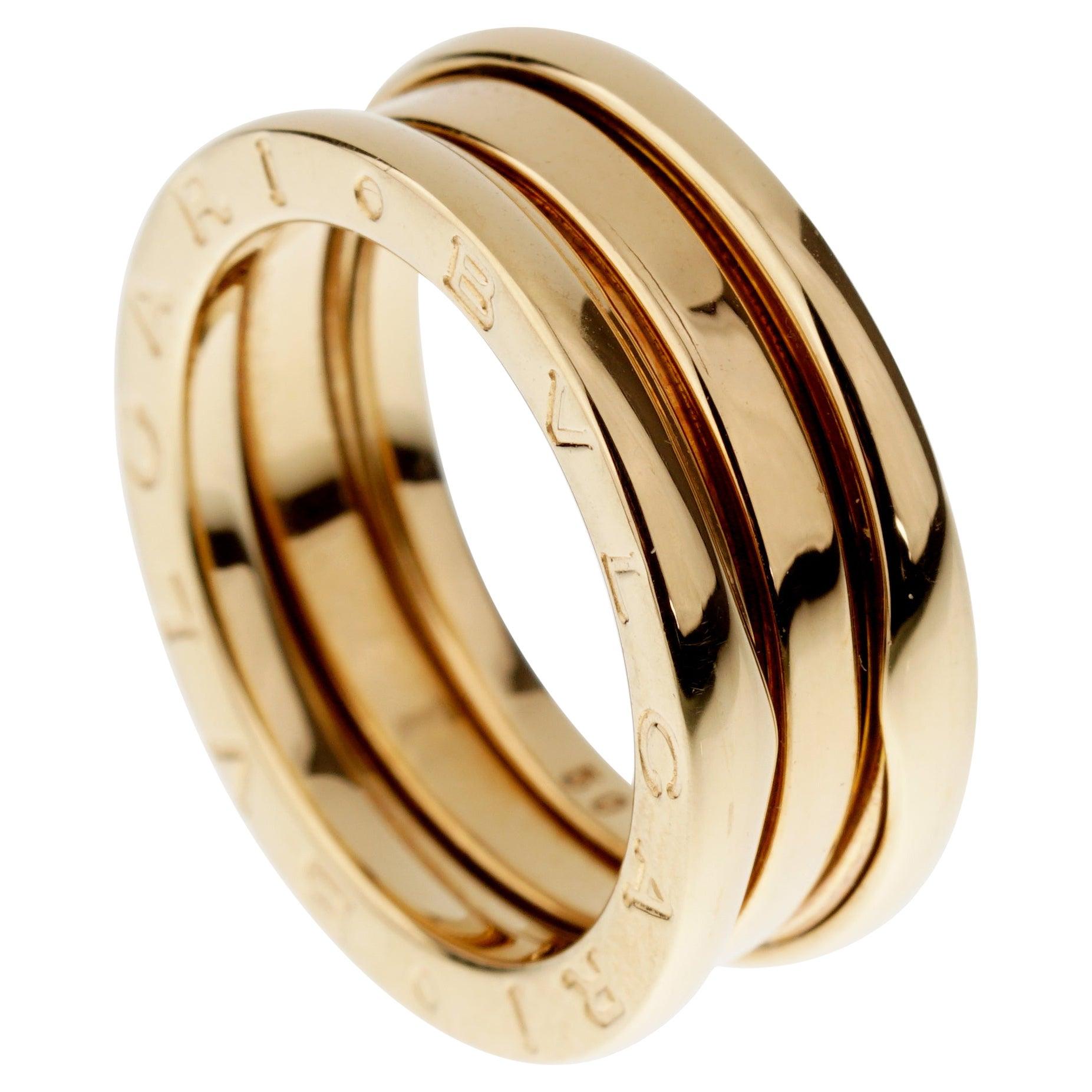 Bvlgari Bzero1 Yellow Gold Band Ring