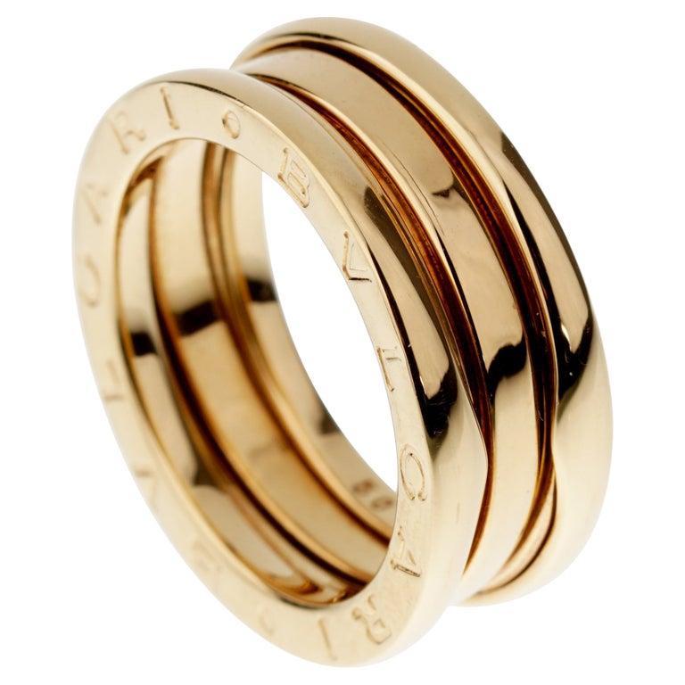 Bvlgari Bzero1 Yellow Gold Band Ring For Sale
