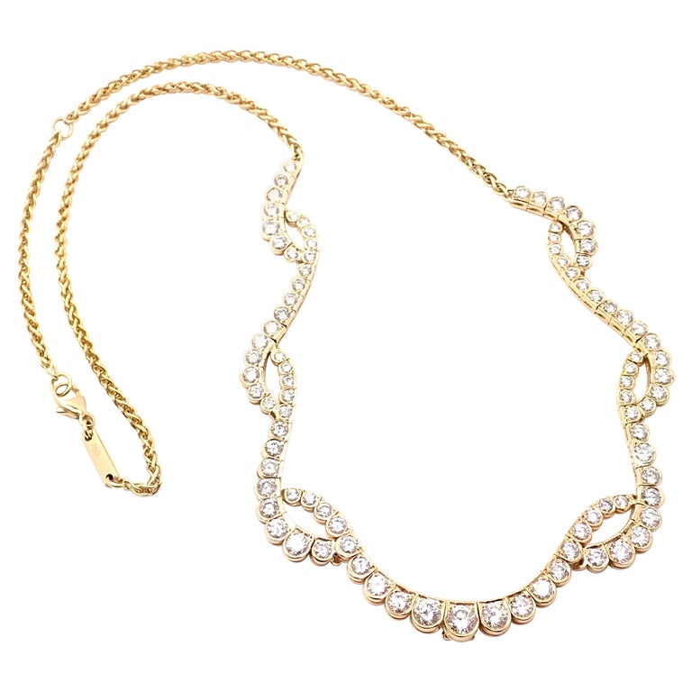 Chopard Diamond Yellow Gold Necklace For Sale