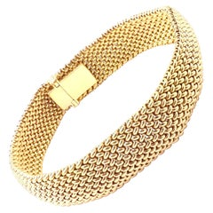 Tiffany & Co. Somerset Mesh Yellow Gold Bracelet