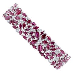 Oscar Heyman Marquise Ruby Scatter Bracelet