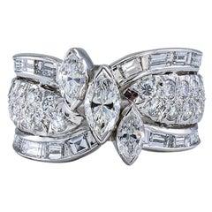 Vintage Diamond Platinum Wedding Band