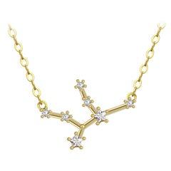 Virgo Star Constellation Necklace