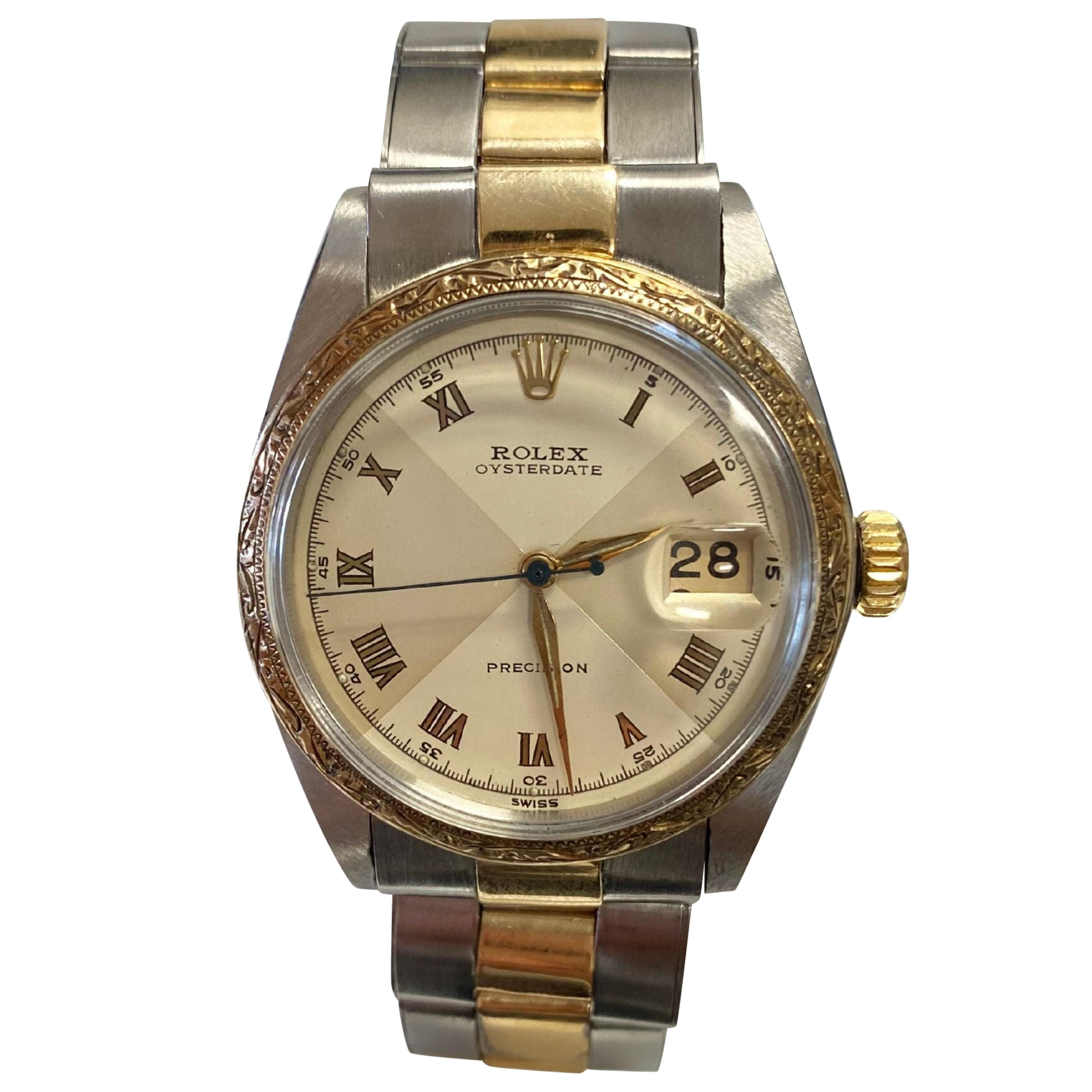 Vintage Rolex Oyster-Date Precision Two Tone Dial