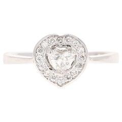 0.43 Carat Diamond 14 Karat White Gold Engagement Ring