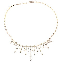 H. Stern Fancy Color and White Diamond White Gold Necklace