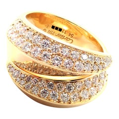 Cartier Panthere Gryph Diamond Yellow Gold Band Ring