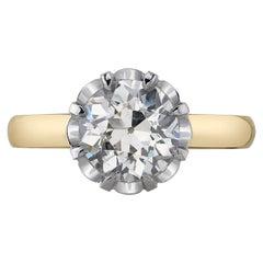 Handcrafted Jolene Old European Cut Diamond Ring by Single Stone