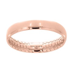 Pink Crocodile Ring in 18ct Rose Gold with Crocodile Filigree