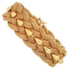 Vintage Woven Rope Bracelet Set in 18k Rose Gold