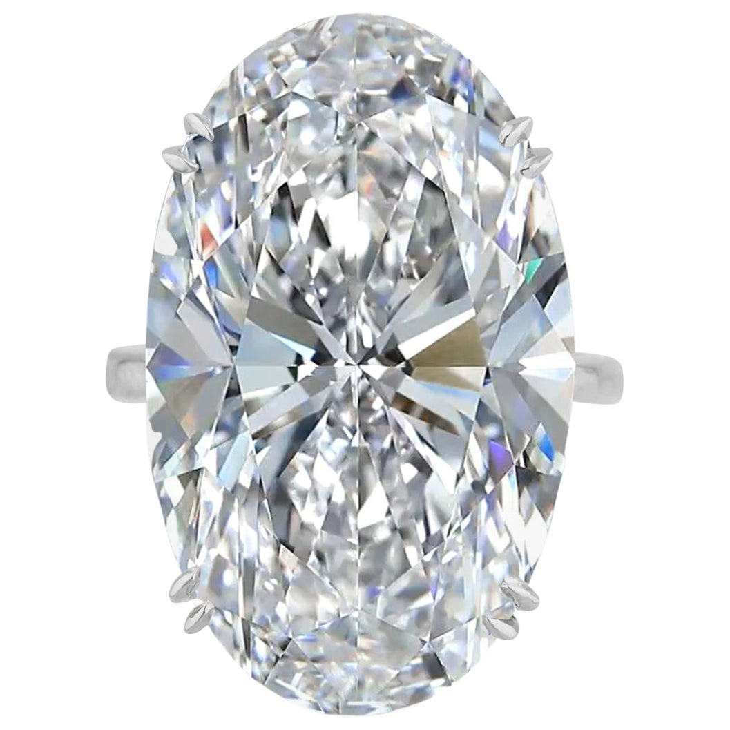 Exceptional Type 2A Flawless GIA Certified 10 Carat Oval Diamond Ring