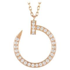 Cartier Juste un Clou 0.38 Ct Diamond 18K Rose Gold Pendant Necklace