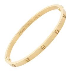 Cartier 18K Yellow Gold Love Skinny Bracelet SM
