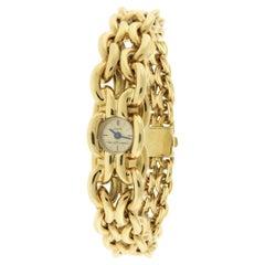 Van Cleef & Arpels Heavy Gold Ladies Bracelet Watch