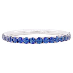 Sapphire Eternity Band, Wedding Ring, Stackable Band, Anniversary Ring in 18kt