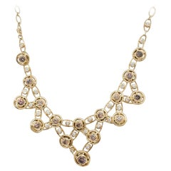 Estate H. Stern Diamond Tiara and Necklace Set in 18k Yellow Gold