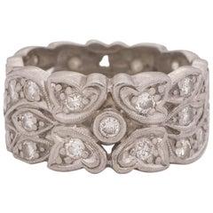 .50 Carat Total Weight Art Deco Diamond Platinum Engagement Ring