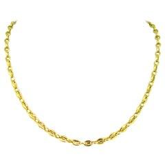 Cartier Grain de Café Link 18kt yellow Gold Chain Necklace, 21in, France, c 1970