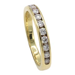 Tiffany & Co. 18K Yellow Gold .33 Carat Channel Set Diamond Wedding Band Ring