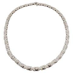 Estate Bulgari Tubini Diamond Necklace in 18k White Gold
