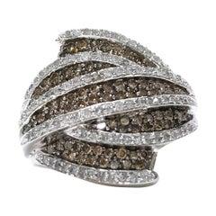 14 Karat White Diamond Pavé Ring