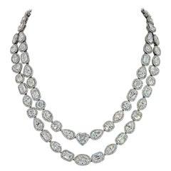 William Goldberg 63 Carat Spectacular Diamond Infinity Necklace