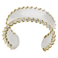 Sterling & Gold Tiffany & Co. Stitch Cuff