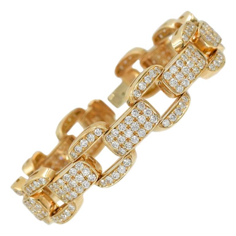 Oscar Heyman Diamond Bracelet in 18k Rose Gold For Sale