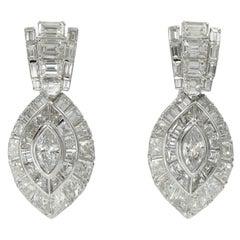 David Morris Diamond Earrings in White Gold