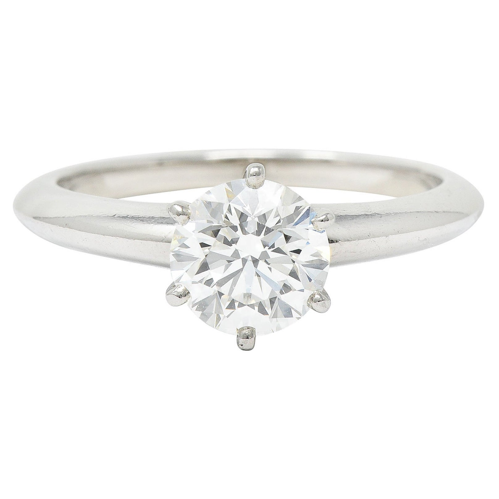 Tiffany & Co. 1.29 Carats Diamond Platinum Solitaire Engagement Ring