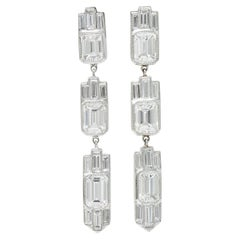 Platinum Drop Earrings