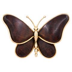 Van Cleef & Arpels Wood Butterfly Brooch