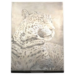 M. Buccellati Panther Hand Etched Sterling Silver Box