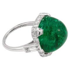 Cartier Sugar Loaf Emerald Ring