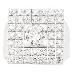 Supra Modern Diamond-Set White Gold Ring