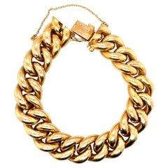 Vintage 18 Karat Gold French Curblink Bracelet