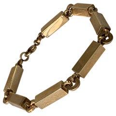 9ct 375 Gold Antique Block Bracelet