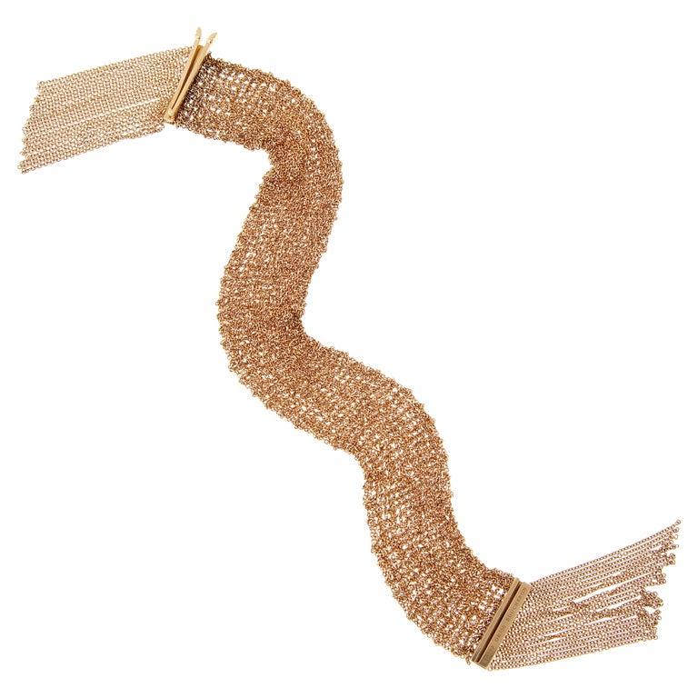 Boucheron Scarf Rose Gold Chain Link Bracelet