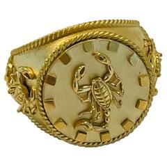 Zodiac Scorpion Ring in 22k Gold by Tagili