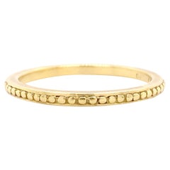 Gold Band, Yellow Gold Wedding Ring, Stackable Band