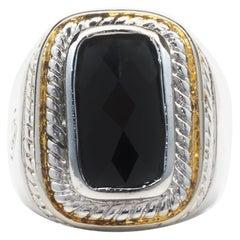 David Yurman Sterling Silver Onyx Ring